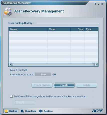 acer erecovery management forgot password