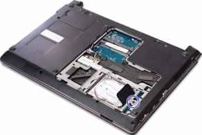 how to open a hard drive on an acer laptop