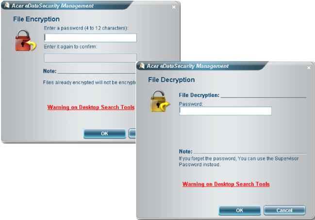 Acer Edata Security Management For Selected Models