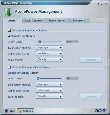 Acer Power Management Aspire 7110