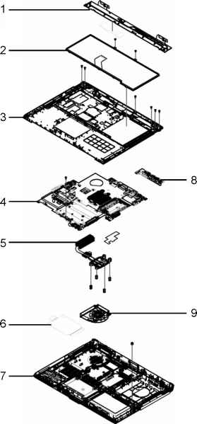 aspire exploded diagrams main assembly