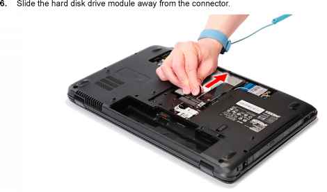 removing the hard disk drive module acer aspire 5542 5542g 5242 rh acerrepairblog us Acer Aspire One Manual acer aspire 5732z service manual