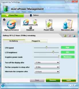Epower Management Applikation