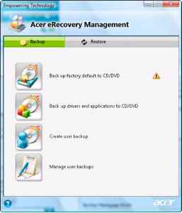 Recovery Acer Aspire 6930g