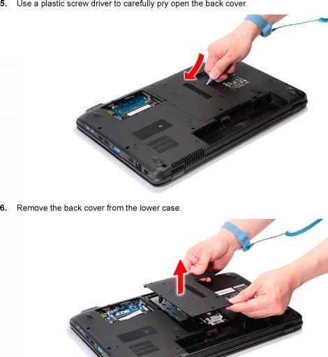 Removing the Back Cover - Acer Aspire 5740 5740D 5340