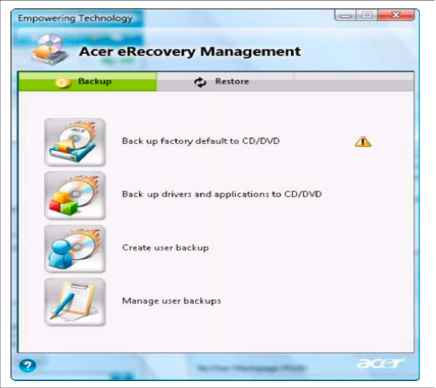 Systm Restore Erecovery Management