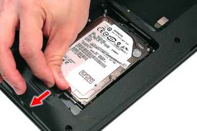 Slide The Hard Disk Drive Module Away