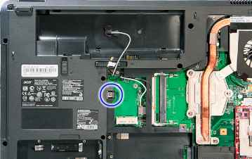 Removing the Optical Drive Module - Acer Aspire 8730 8730Z 8530