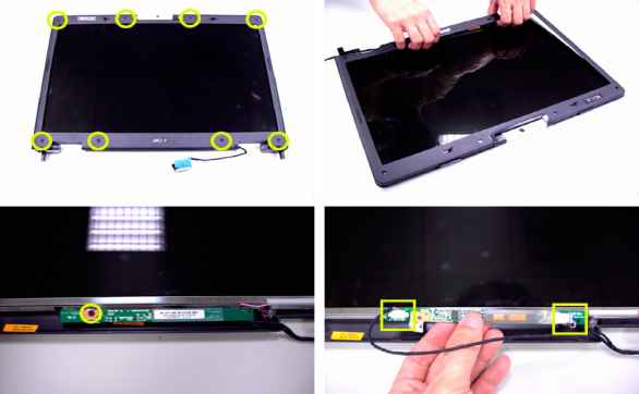 Acer Aspire 9300 Remove Lcd