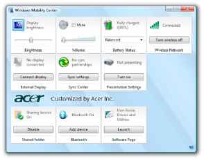 Acer Esettings Management