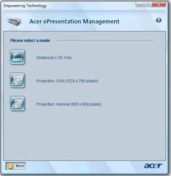 Acer Display Management