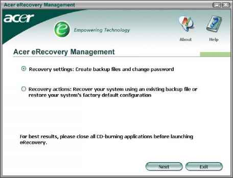 Acer Aspire 7720z Recovery