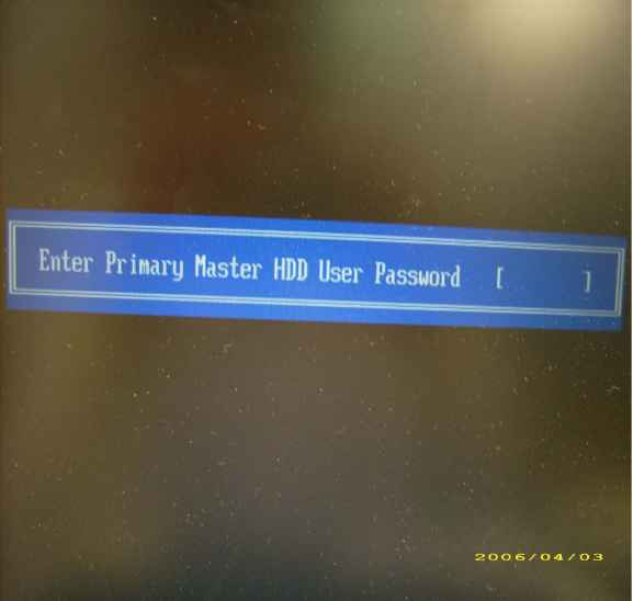 Hdd User Password