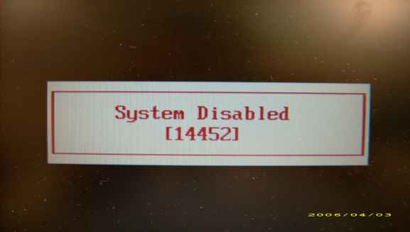 Acer Bios System Disabled