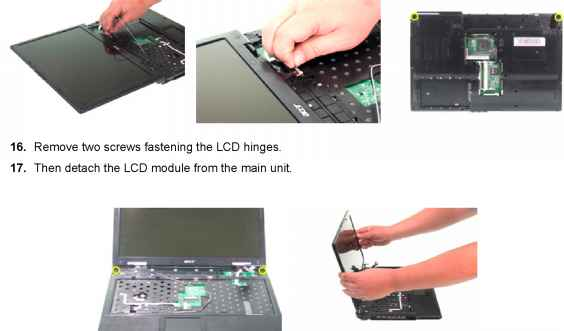Acer 3290 Remove Cover