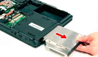 how to remove dvd drive from acer aspire laptop