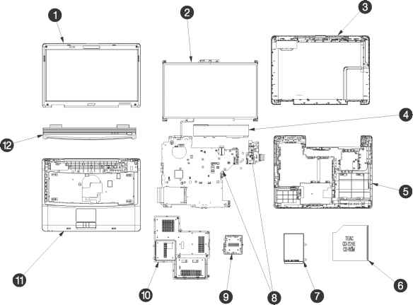 Acer Aspire 5738z Diagram