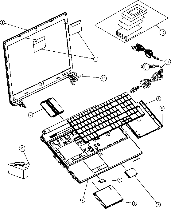 travel mate exploded diagram